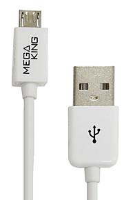 USB teléfonos Android Taiwán Megaking cable de carga 1 metro