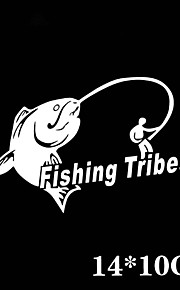 Funny Fishing Tribes Car Sticker Car Window Wall Decal Car Styling (1pcs)
