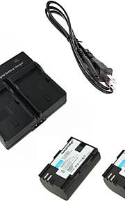 ismartdigi lpe6 digitale camera batterij x2 + dual oplader voor Canon 5D2 5D3 6d 7d 7d2 60d 70d