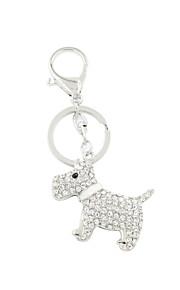 moda bonito conjunto de strass cão de metal porta-chaves / acessório bolsa