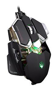 Lumo g10 ergonomisk + aluminium førte optisk usb kablet mus gamer professionel gaming mus mus
