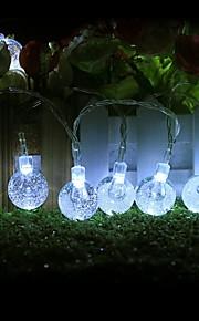 konge ro 50led vent krystallkule dekorative streng lys (kl0046-rgb, hvit, varm hvit)