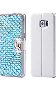 cristallo di lusso bling&Borsa del cuoio di vibrazione diamante per SamsungGalaxy S6 (colori assortiti)