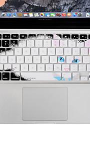 xskn durevole ultrasottile copertura della tastiera pelle del silicone gatto pigro per l'aria del macbook / pro 13 15 17 pollici, noi il