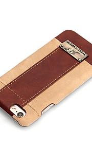Für Hüllen Cover Stoßresistent Rückseitenabdeckung Hülle Einheitliche Farbe Hart PU - Leder für AppleiPhone 6s Plus iPhone 6 Plus iPhone