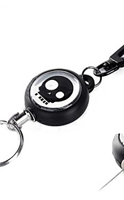 Outdoor Flexible Steel Rope Keychain - Black + Silver