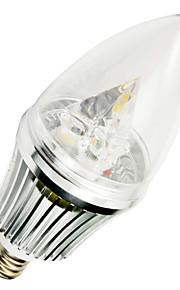 1 stk. E12 5W 3 SMD 400-500 lm Varm hvit T LED-lysestakepærer AC 220-240 V