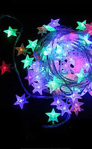 konge ro 50led stjerne form batteri utendørs vanntett string lys (kl0009-rgb, hvit, varm hvit)