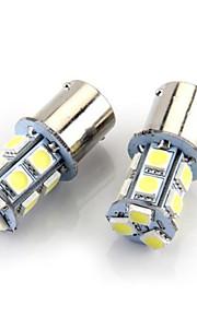 4x1156 BA15s 13x5050smd 60-80lm hvitt lys ledet pære for bil (12V DC)