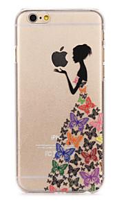 """butterfly skjørt jente malt mønster hard plast tilbake bukt for iphone6plus / 6splus 5,5 """""""
