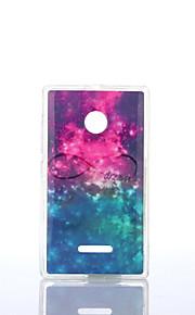 estrellado cielo TPU patrón + soft IMD para Nokia Lumia N640 / n535 / N435
