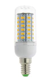 1 stk. E14 / G9 / GU10 / B22 / E12 / E26 / E26/E27 4W 56 SMD 5730 700 lm Varm hvit / Kjølig hvit T LED-kornpærer AC 85-265 V