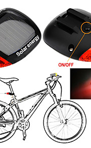 Solar Power LED Bicycle Lights Bike Rear Tail Lamp Light Bike cycling Safety warning Flashing Light Lamp Red  1 PC
