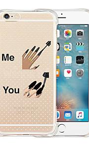 Para Capinha iPhone 6 / Capinha iPhone 6 Plus Transparente / Estampada Capinha Capa Traseira Capinha Desenho Macia SiliconeiPhone 6s