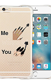 For iPhone 6 etui / iPhone 6 Plus etui Transparent / Mønster Etui Bagcover Etui Tegneserie Blødt SilikoneiPhone 6s Plus/6 Plus / iPhone