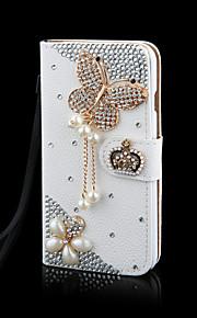 cristallo di lusso bling&Borsa del cuoio di vibrazione diamante per samsunggalaxygalaxys2 / S3 / S4 / S5 / S6 / S6E / S7 / S6E più