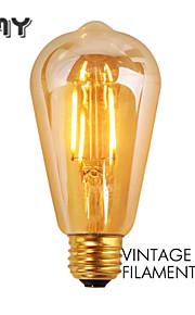 1 stk. GMY E26 3W 4 COB ≥300 lm Varm hvit ST19 edison Vintage LED-glødepærer AC 110-130 V