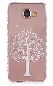 White Trees Pattern Slip TPU Phone Case For Samsung Galaxy A3(2016)/A5(2016)
