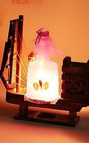 creatieve hout drift fles licht zeilen lamp decoratie bureaulamp slaapkamer lamp cadeau voor kind (assorti kleur)