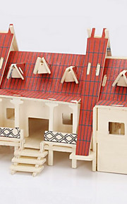 Dom drewniany thai celne 3d puzzle zabawki do majsterkowania