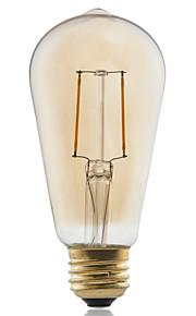 1 stk. GMY E26/E27 2W 2 COB ≥180 lm Varm hvit ST58 edison Vintage LED-glødepærer AC 220-240 V