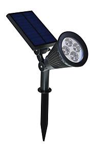 2 i 1 Solar LED landskap belysning vanntett utendørs vegg spotlight for tre flagg oppkjørselen verftet plen pathway hage