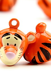 Tigger Cartoon Pure Copper Pet Pendant Bell(2 PCS 2cm)