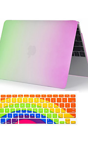 "2  in 1 Rainbow Colorful Plastic Full Body  Case +Keyboard Cover for MacBook Pro 13""/15"""