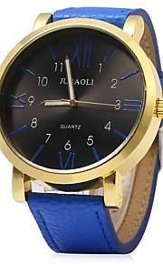 moda masculina de discagem pu quartzo faixa de relógio