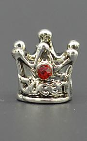 DIY beaded armbånd halskæde tilbehør plating + sværte mode krone indlagt cz lampwork perler hac0057