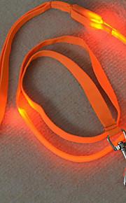 pejsky vodítka / Nasazovací vodítko Reflexní / LED osvětlení Červená / Bílá / Zelená / Modrá / Růžová / Žlutá / Oranžová Nylon