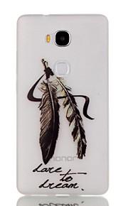 modelo noche pluma luminosa TPU caso suave para 5x Honor Huawei