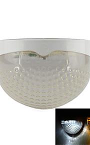 hry® 6leds lys-kontroll varm / kald hvit farge solcellepanel lampe vanntett utendørs gjerde hage sti vegg belysning