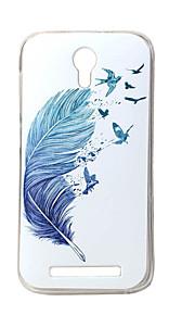 pluma azul nueva TPU suave cubierta de la caja de valencia Doogee 2 Y100 teléfonos móviles fundas estuches