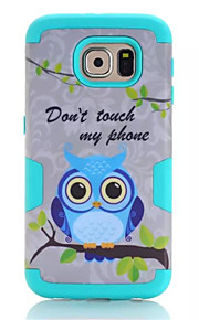 Lovely Owls Silicone Case Soft Gel Plastic Cover For Samsung Galaxy S6  Phone Case Fundas Bag