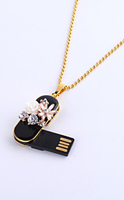 16GB Necklace Flower Jewelry USB 2.0 Rotatable Flash Memory Stick Drive U Disk ZP-08