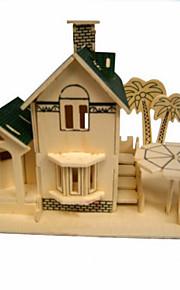vista para o mar sala de madeira 3d puzzles DIY brinquedos