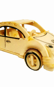 Beetle Cars Wood 3D Puzzles Diy Toys