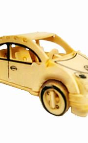 carros besouro madeira 3d puzzles DIY brinquedos