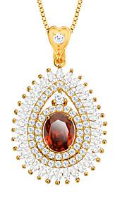 zirconia vedhæng halskæde 18K forgyldt østrigske krystal mode smykker kvindelige tilbehør mærke gave p30106