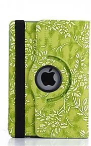 360 graders druva spannmål PU läder luckan fall för iPad Mini 4 (blandade färger)