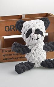 Hundar Leksaker Tuggleksaker Panda Tyg Vit