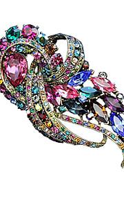 regnbue farve ædelsten&krystal broche for kvinder mors dag bryllupsfest gave