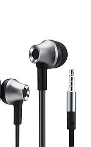 de metal baixo do fone de ouvido estéreo fones de ouvido fones de ouvido com microfone para iphone Samsung Xiaomi mp3 player