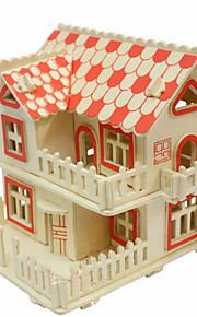 drewna europejskiego stylu willi 3d puzzle zabawki do majsterkowania