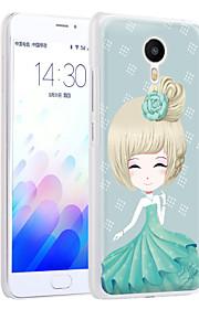 sueño ximalong la cáscara del teléfono chica relieves pintados se aplican para la nota mei zu m3