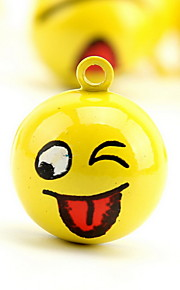 Smiling Face Cartoon Pure Copper Pet Pendant Bell(2 PCS 2cm)