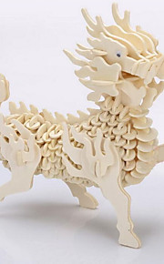 3D Puzzles Diy Handmade Wooden Three-Dimensional Puzzle  Simulation Animal Model Of Children'S Educational Toys Kirin