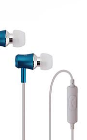 course écouteurs de sport dans l'oreille de son casque d'isolement casque avec micro pour téléphones mobiles iphone lecteur mp3 de xiaomi