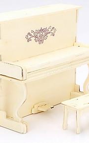 europeu de madeira de piano 3d puzzles DIY brinquedos